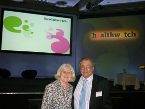 Ruth and Peter at Healthwatch Lanch 1